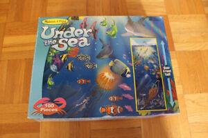 Casse-tête Sous la mer Melissa & Doug, 100 morceaux, 4 pieds