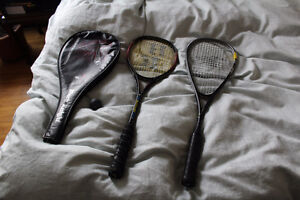 2 x squash rackets black knight and new inesis superlight