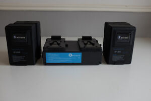 V-Mount Batteries & Two-Position Charger Kit