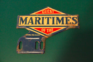 Irving Oil Maritimes license plate topper sign