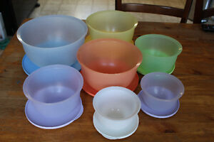 Tupperware Serving LOT Bowls/Serving Centre/Beverage Dispenser