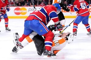 Ce soir Canadiens VS Flyers 24 octobre 2 billets en bas du cost