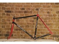 Absolutely beautiful carbon aluminium BIANCHI retro frameset (54 cm, red / black)