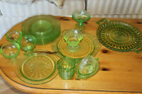 A lot of Depression Glass - Sold as a lot or individually