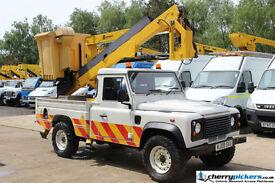 2009 Land Rover Defender 4x4 Powered Access Platform Cherry Picker - 13.5 Metre