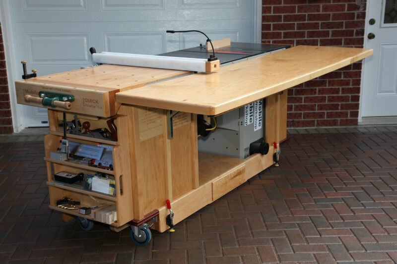 Plans For Ekho Mobile Table Saw And Workshop Bench For