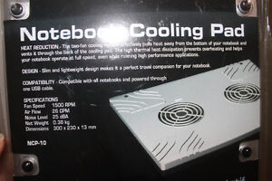 Laptop Cooling Pad (2 fans to prevent overheating or a fire)