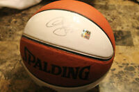 signed raptors basketball with certificate of authenticity