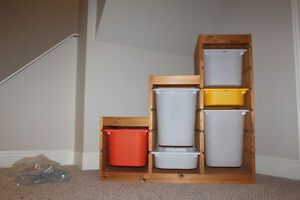 Toy Storage Shelving with bins