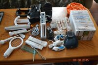 Wii controllers, nunchuks, mat,games and accessories