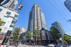 2 Bed & Bath Downtown Vancouver condo available immediately