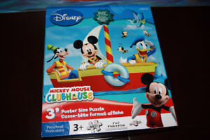 Casse-tête 3'x2' gros morceaux MICKEY MOUSE CLUBHOUSE puzzle
