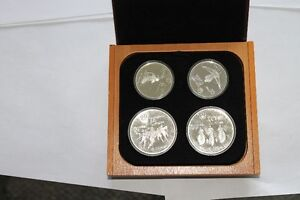 1976 Montreal Olympics 28 Proof silver coin set