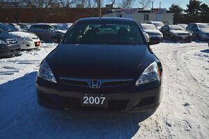 2007 Honda Accord EXL Sedan/Accident Free/Low Km/ Black on Black