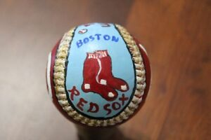 Ted Williams hand painted baseball by Artist