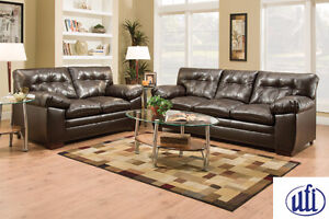 Brand NEW Bishop Brown Sofa/Love seat! Call 306-970-3822!