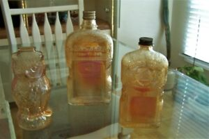 Vintage Carnival Glass Bottles and other interesting pieces