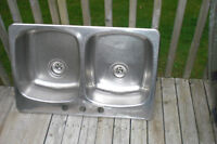 Stainles steel double sink