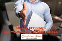 Curriculum vitae (CV) personnalisé et professionnel