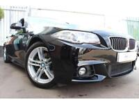 2015 65 BMW 5 SERIES 2.0 520D M SPORT 4D-1 OWNER-BLACK DAKOTA LEATHER-REAR BOOT