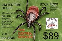 Tick Control Services for Yards.
