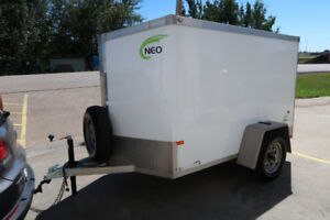 5x8 Cargo NEO Trailer: ALL ALUMINUM, LIGHT WEIGHT, NO RUST, RAMP