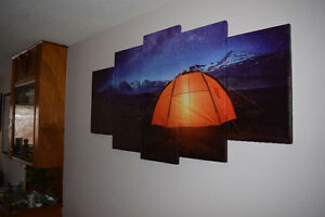 Camping With The Stars Panel Painting
