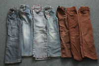 Size 6 Girls Jeans and Brown Pants