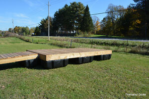 8 x 16 pressure treated floating dock with 4 x 16 ramp Kingston Kingston Area image 5