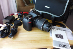 Nikon D90 and Nikkor 18-55 VR lens  Excellent Condition