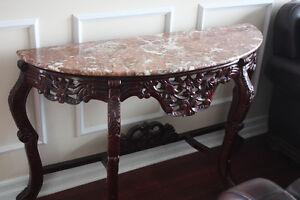 Liquidation table console en marbre ( fermeture ) : magasin haut