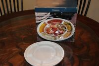 Fondue Plates, set of 4  NEW