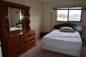 MASTER Furnished Bedroom by Joyce Skytrain. Utilities Included