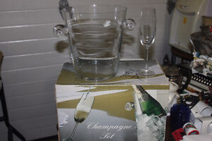 New Ice Bucket & Goblets ( Champagne Set )