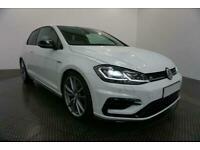 2018 WHITE VW GOLF R 2.0 TSI 310 DSG 3DR AUTO HATCH CAR FINANCE FR £402 PCM
