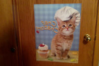 """French Poster """"Chef  Chaton!"""" GREAT CONDITION!"""