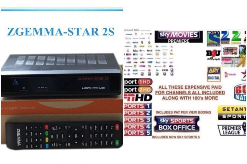 Zgemma Star 2S Twin Tuner for Satellite + 12 months PPV  BOXING,kids,movies,Sports,Asian Channels | in Middleton, Manchester |  Gumtree