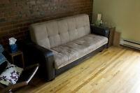 Divan-lit à vendre - 3 places - 350$ (négociable)