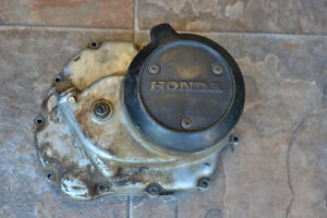 1982 Honda ATC 185s right side clutch cover assembly