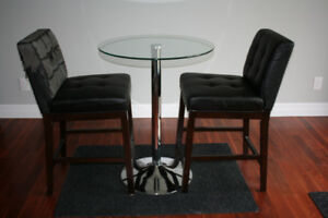 Martini table / bistro table - (two chairs free- read ad)