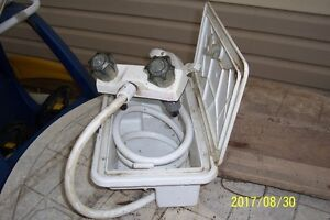 used outdoor shower and taps for travel trailer
