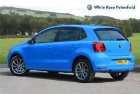 2015 Volkswagen Polo SE Design 1.2 TSI 90PS 7-speed DSG 5 Door Petrol blue Semi