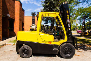 2008 Hyster Forklift 12000LB Cap. With Side shift lift about 15