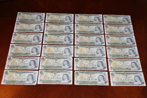 Collection d'argent Money Collector Dollars et Sous Bills Change
