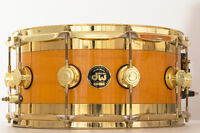 DW Edge Brass Maple Snare Drum