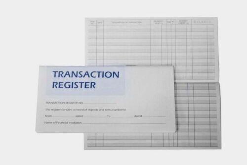 Checkbook Account Registers  2021 -22 -23 Transaction Bank Deposit Book Debit