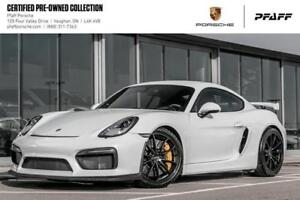 2016 Porsche Cayman GT4 - LOW KMS, CPO, Clean CARFAX!
