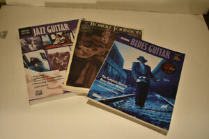 3 EXCELLENT BLUES JAZZ GUITAR METHOD BOOKS