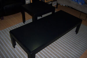 Black Coffee Table with 1 End Table