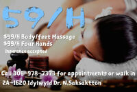 High Quality Massage (4 hands, regular, body & foot)!!!Special